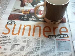 Kaffe og avis - og sunn fornuft!